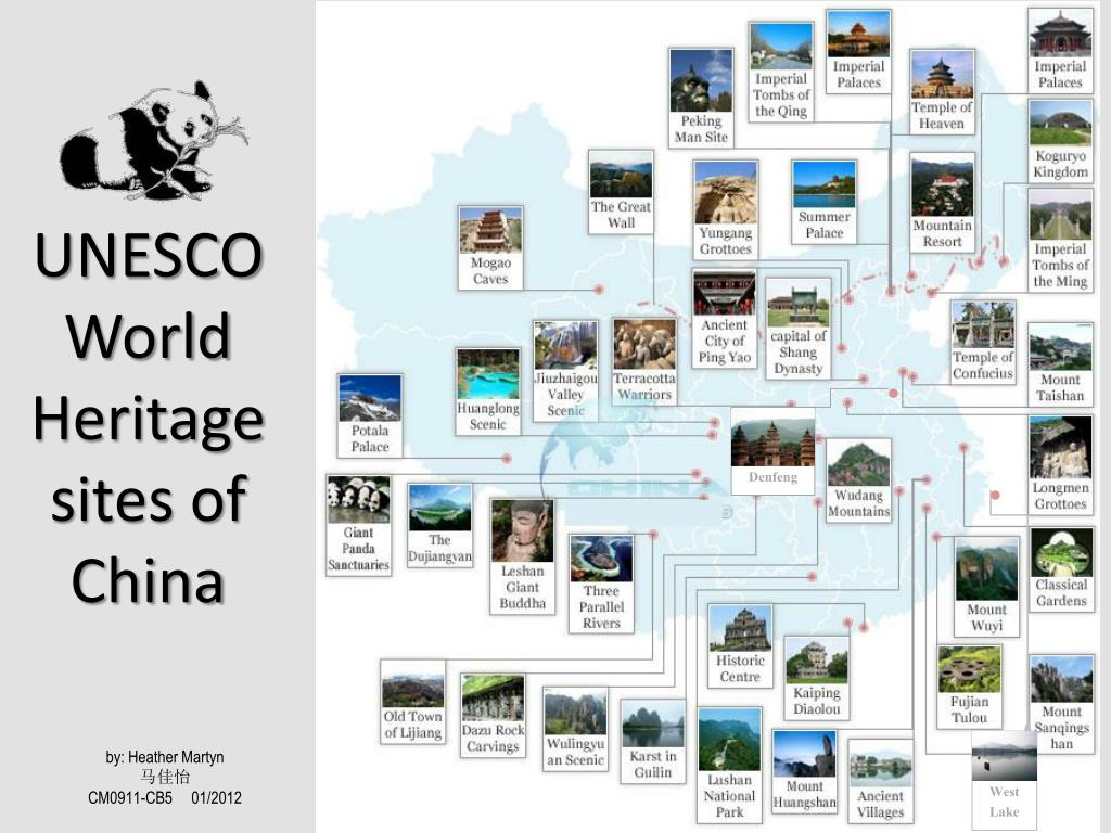 PPT - UNESCOWorld Heritage sites of China PowerPoint Presentation
