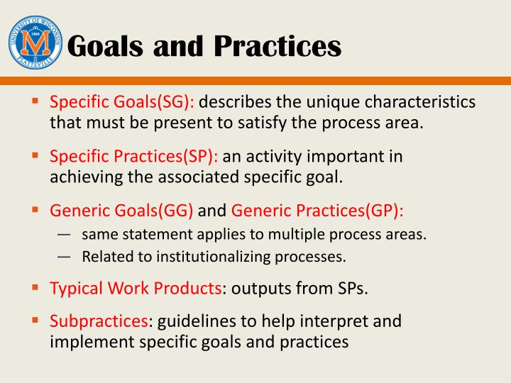 Goals and Practices