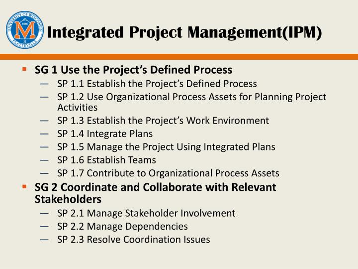 Integrated Project Management(IPM)