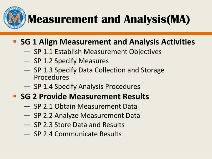 Measurement and Analysis(MA)