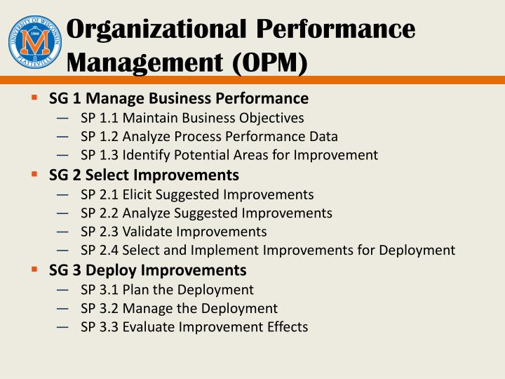 Organizational Performance Management (OPM)
