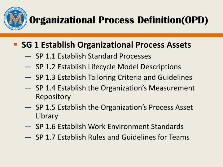 Organizational Process Definition(OPD)