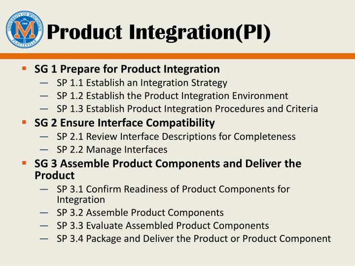 Product Integration(PI)