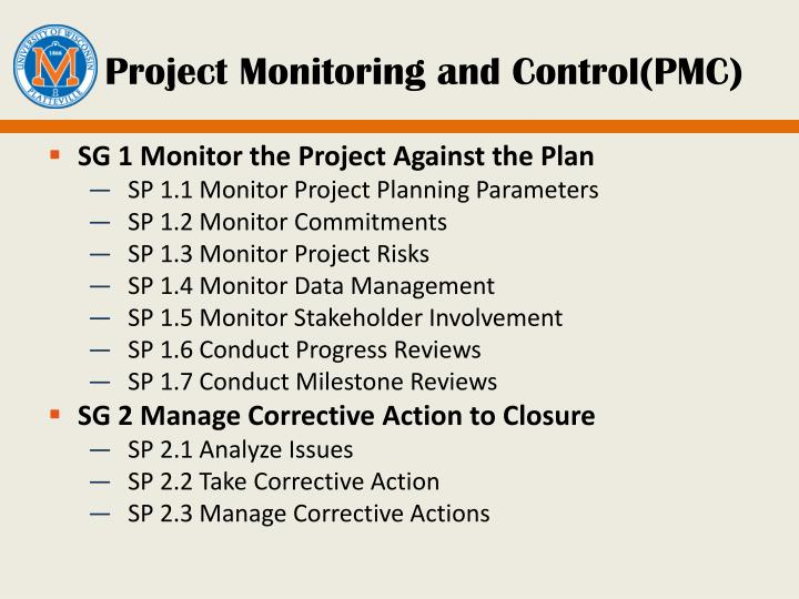 Project Monitoring and Control(PMC)