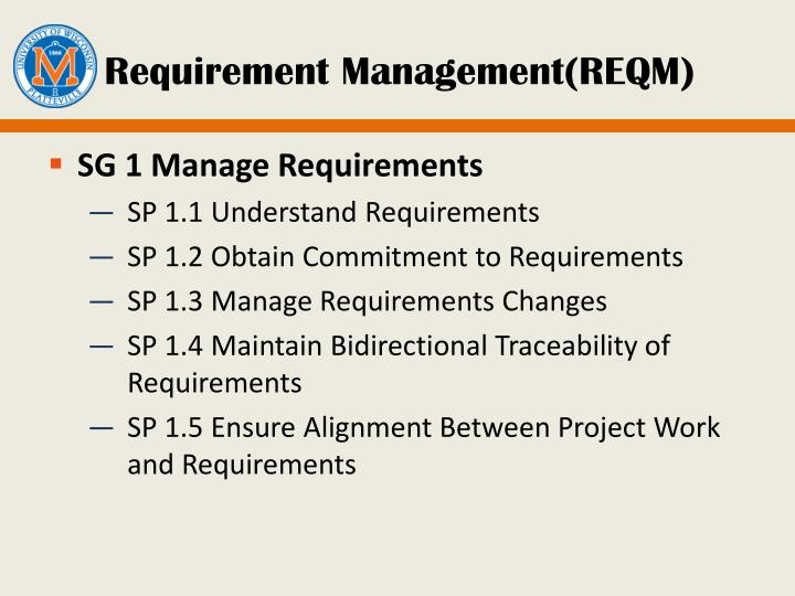 Requirement Management(REQM)