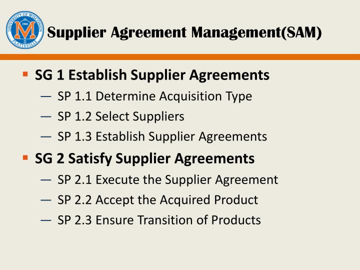Supplier Agreement Management(SAM)