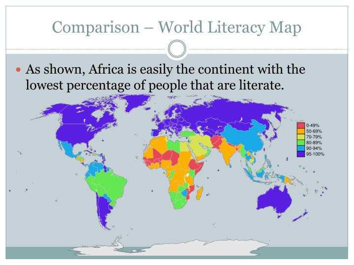 Comparison – World Literacy Map