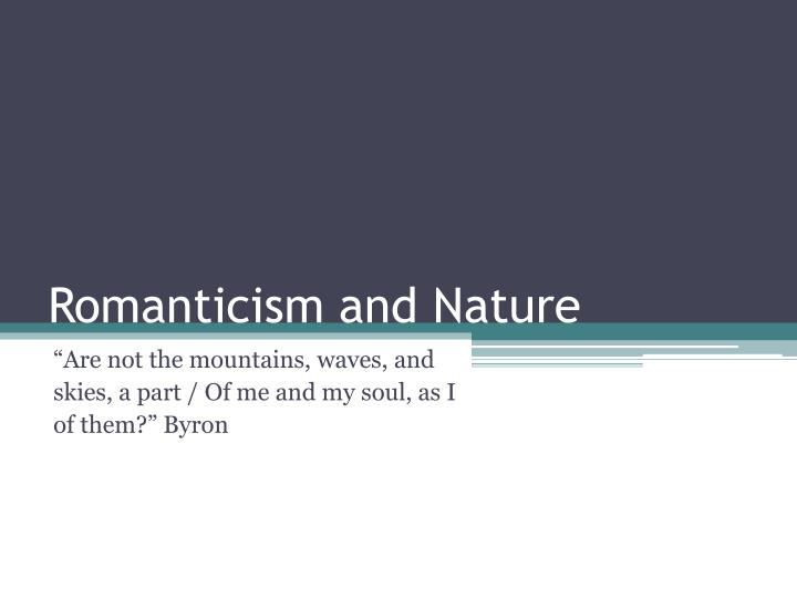 romanticism and nature n.