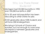 why are there fewer students