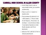 carroll high school in allen county