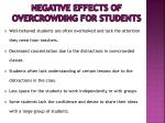 negative effects of overcrowding for students