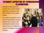 student affected by overcrowded classrooms