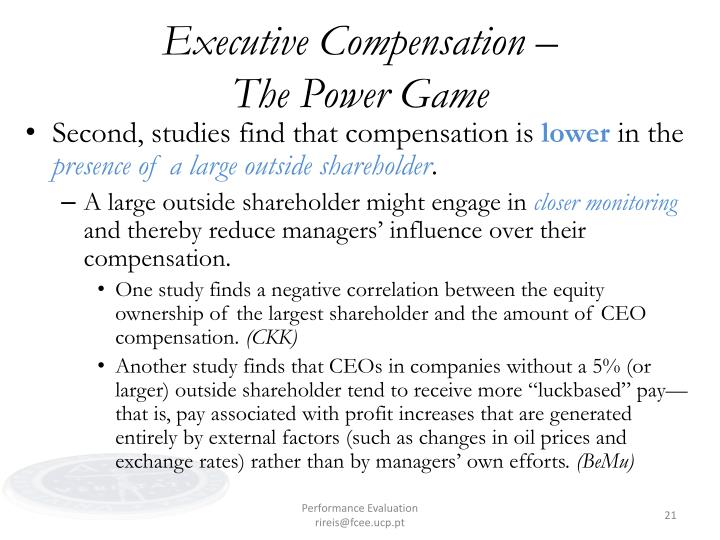 pay without performance overview of the Pay without performance: overview of the issues february 2006 journal of applied corporate finance in a recent book, pay without performance: the unfulfilled promise of executive compensation, we critique existing executive pay arrangements and the corporate governance processes producing them, and put.