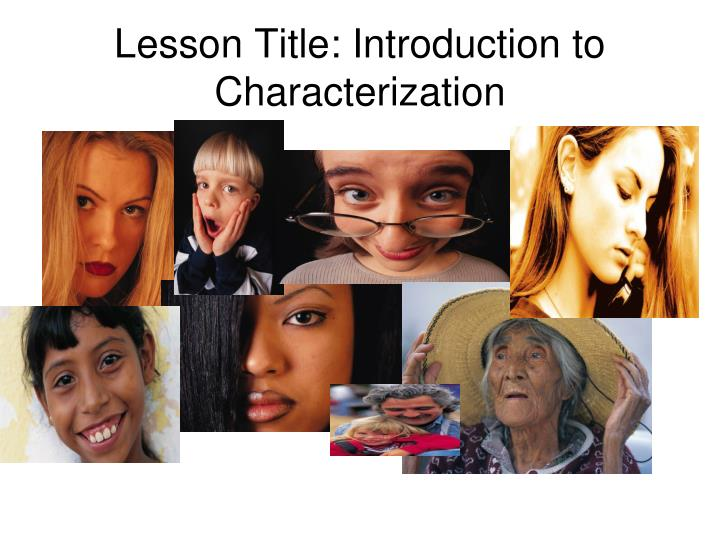 lesson title introduction to characterization n.