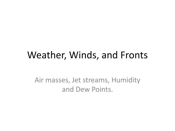 weather winds and fronts n.