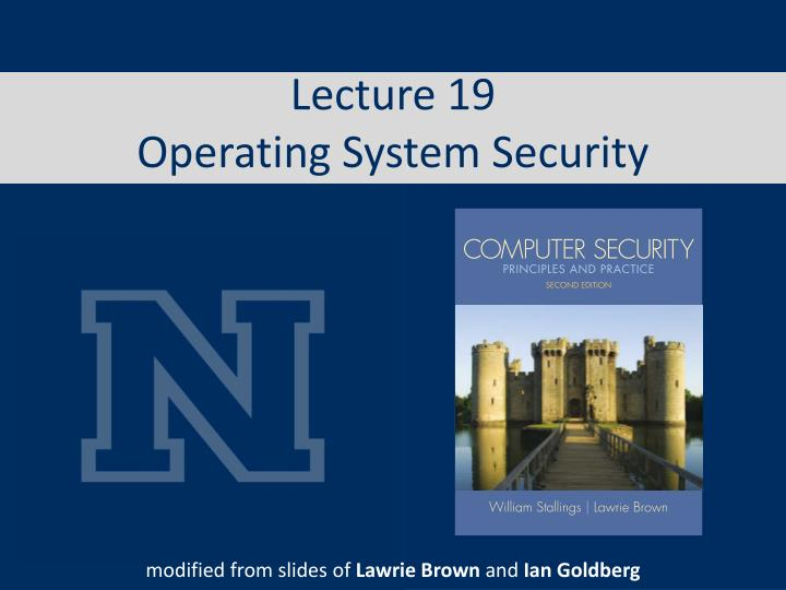 lecture 19 operating system security n.