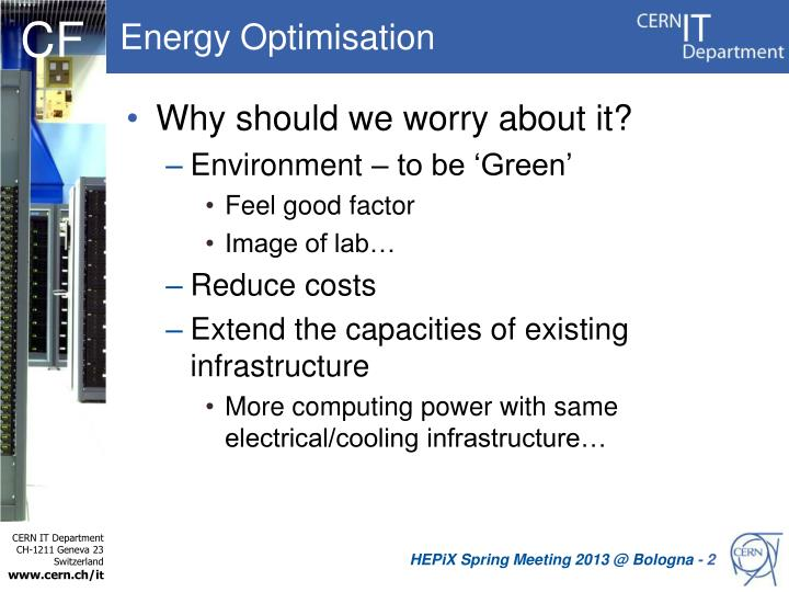 Energy optimisation1