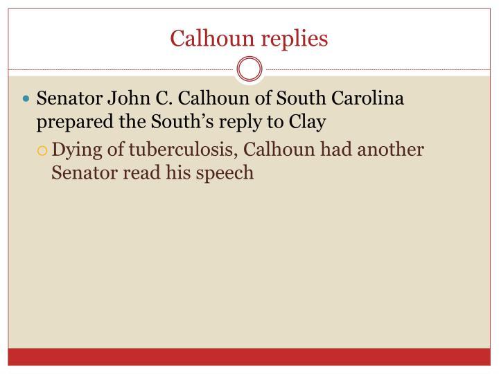 Calhoun replies