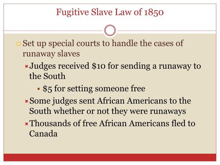 Fugitive Slave Law of 1850