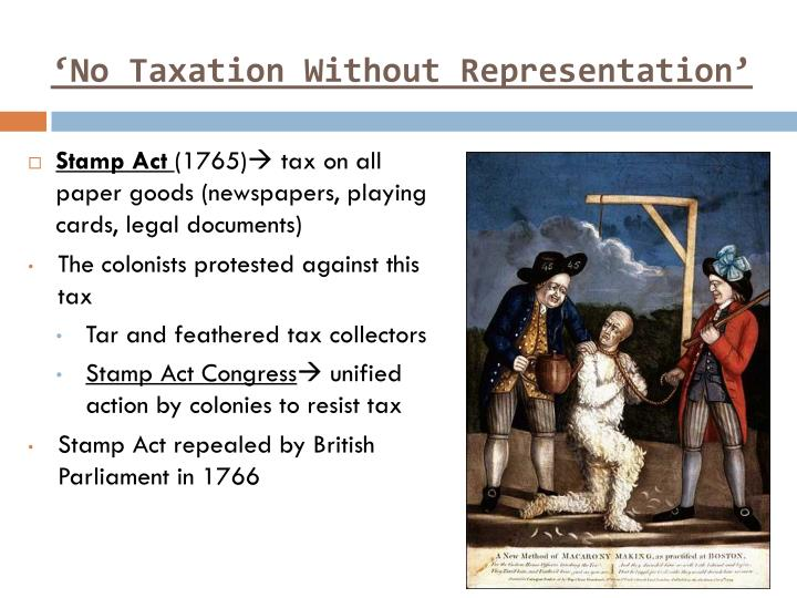 the demand for no taxation without representation was the primary force motivating the american revo Explain why parliament did not understand the colonists' argument no taxation without representation the phrase taxation without representation was the popular description of the taxes imposed on the american colonies.
