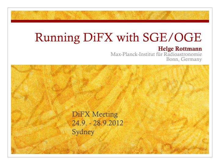 Running difx with sge oge