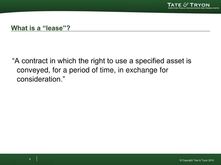 """What is a """"lease""""?"""