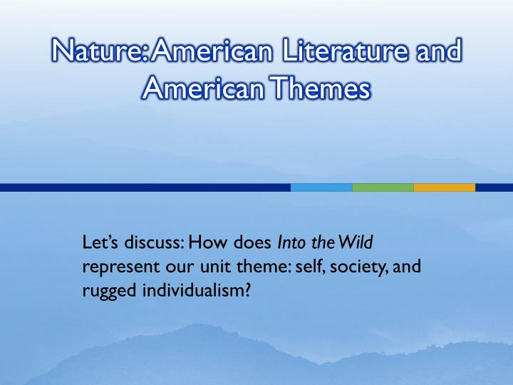 what is american about american literature Continuum studies in ltterary genre american gothic fiction: an introduction allan lloyd-smith continuum new york • london chapter one what is american gothic.