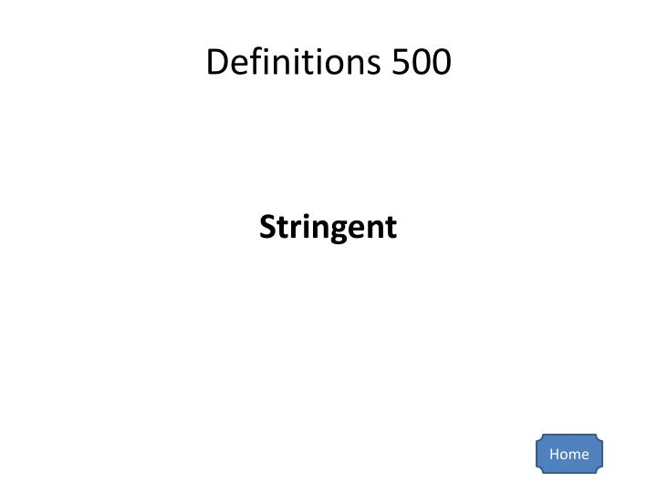 Definitions 500