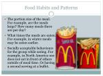 food habits and patterns1
