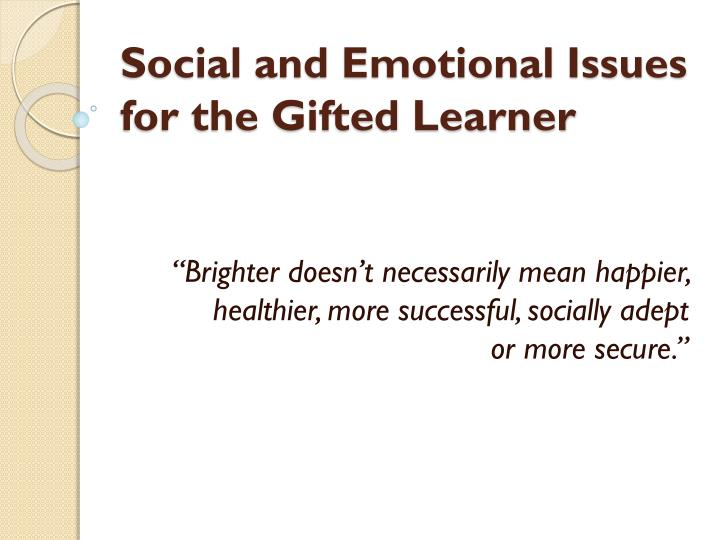 Emotional social issues and What is