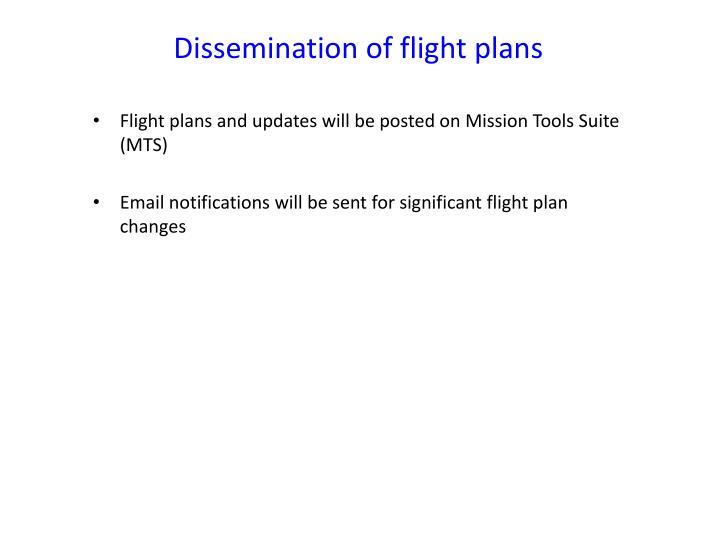 Dissemination of flight plans