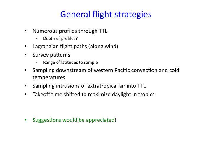 General flight strategies