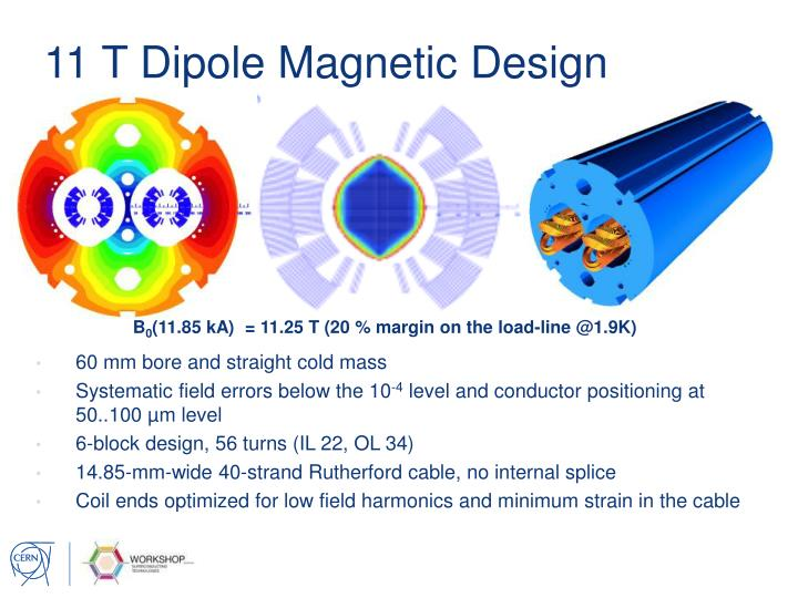 11 T Dipole Magnetic Design