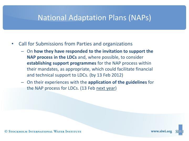 National Adaptation Plans (NAPs)