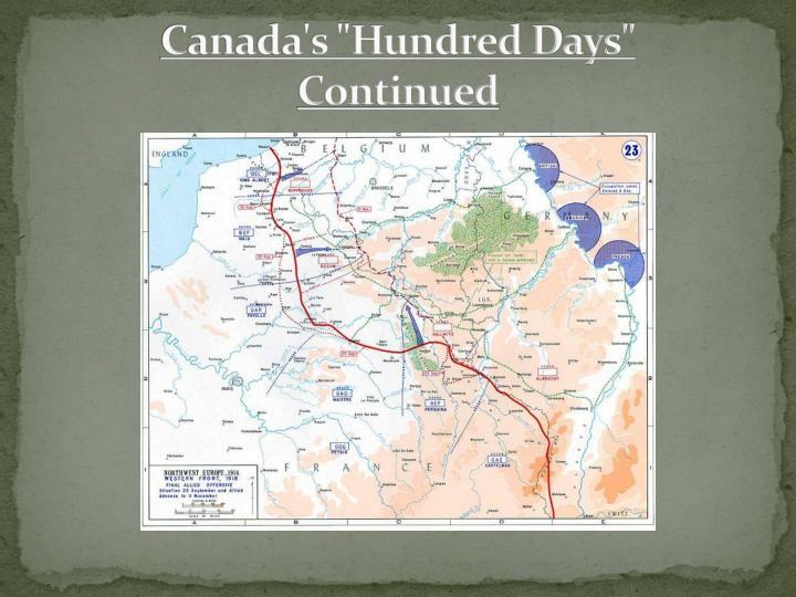 "Canada's ""Hundred Days"""
