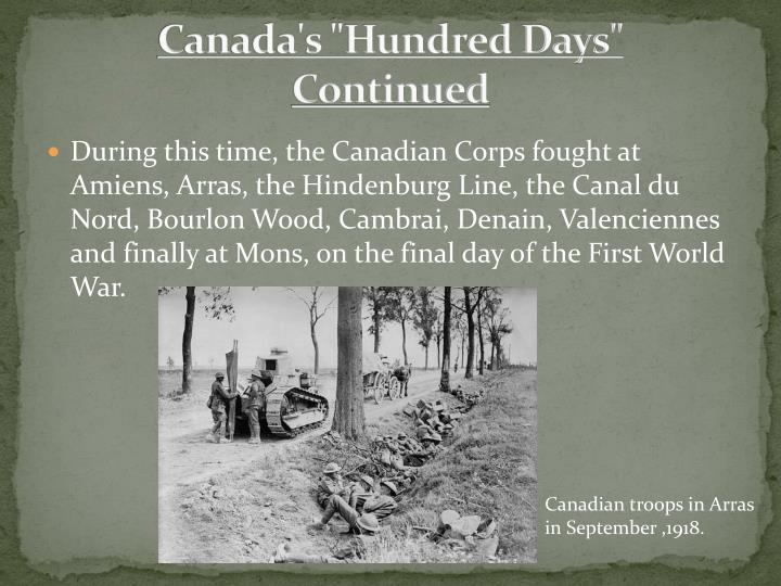 "Canada's ""Hundred Days"