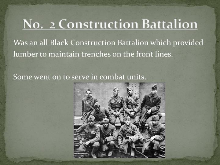 N0.  2 Construction Battalion