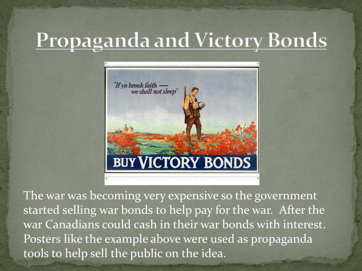 Propaganda and Victory Bonds