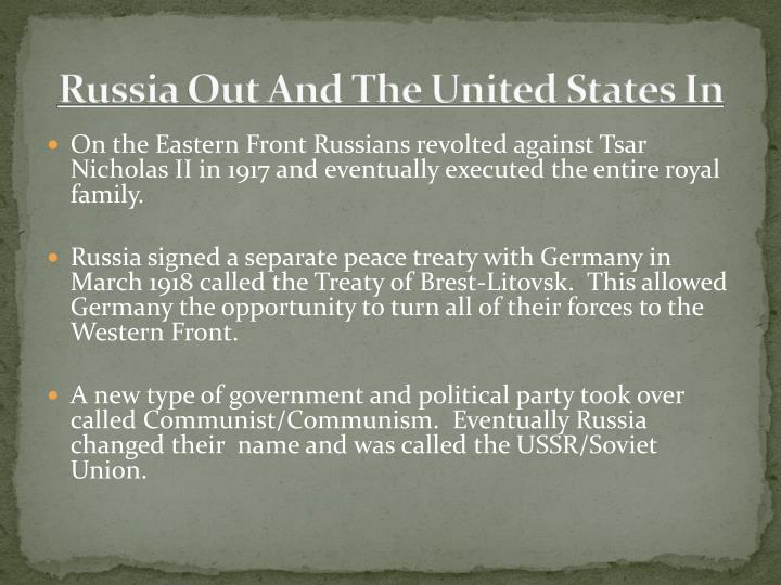 Russia Out And The United States In
