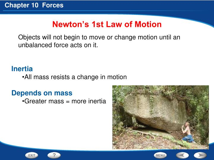 newton s 1st law of motion n.