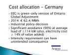 cost allocation germany