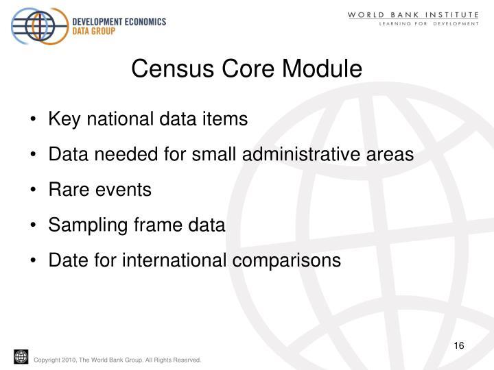 Census Core Module