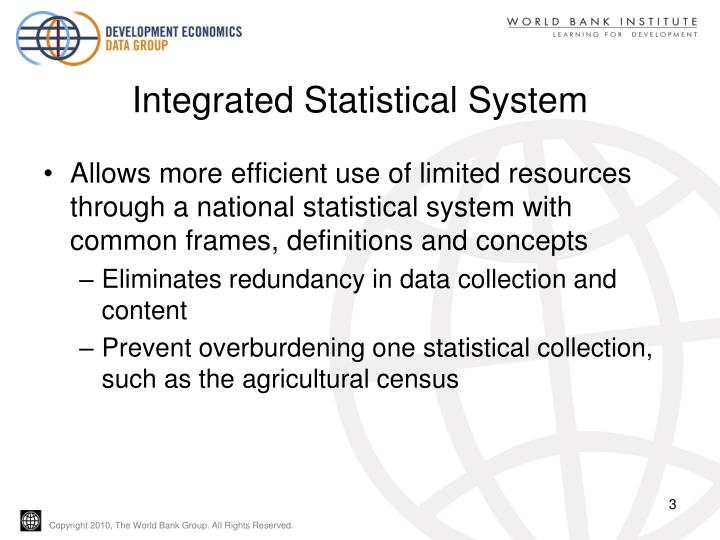 Integrated statistical system