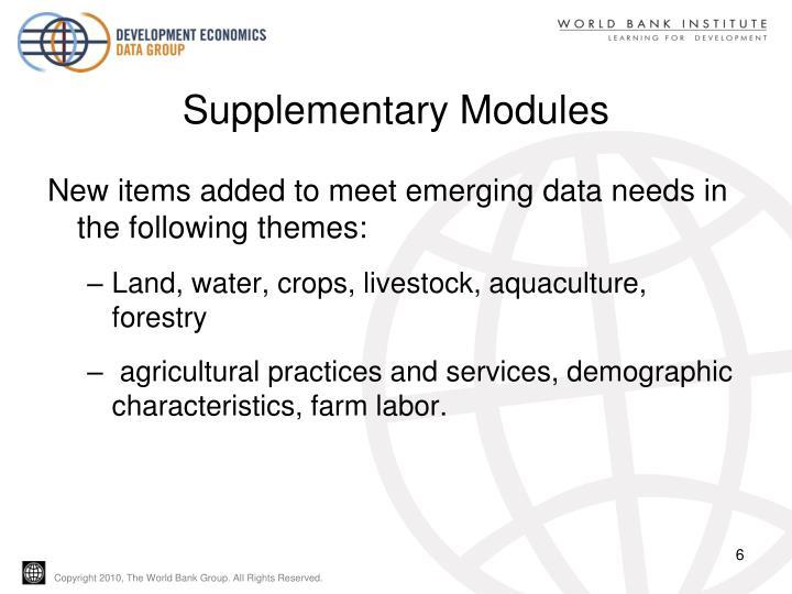 Supplementary Modules