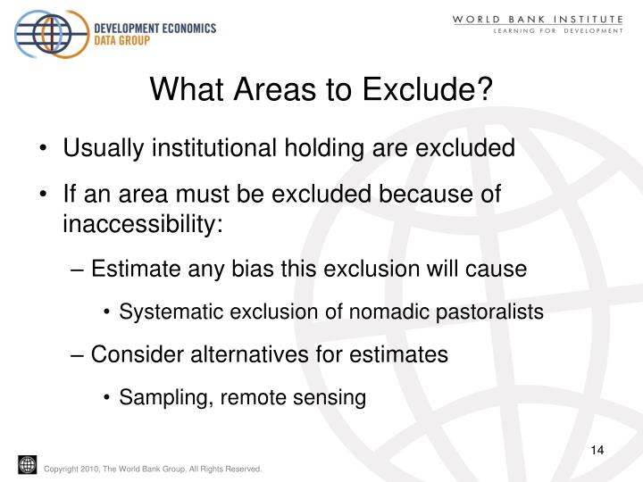 What Areas to Exclude?