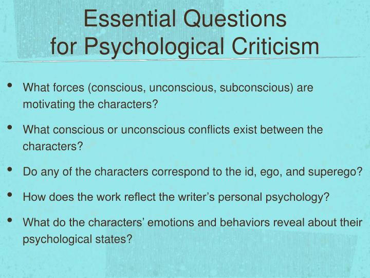 psychology of criticism