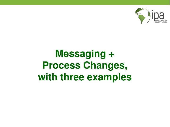 Messaging +