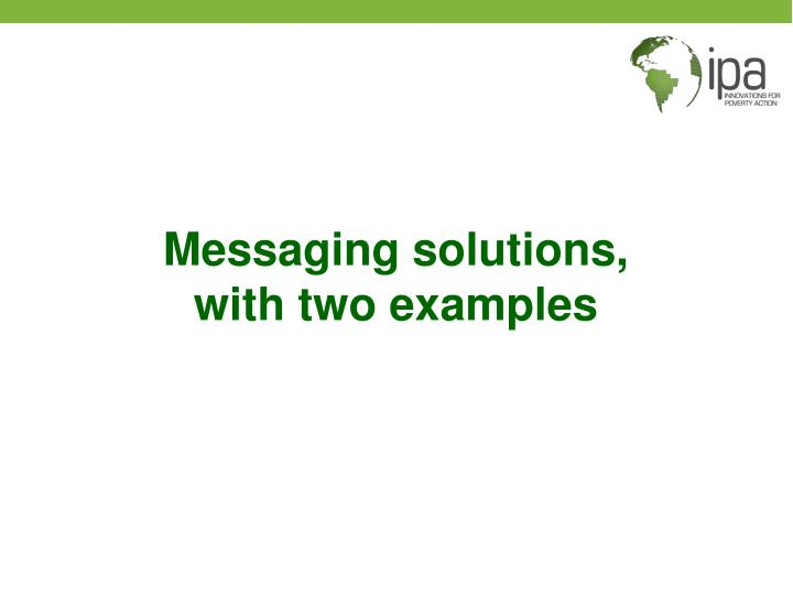 Messaging solutions,