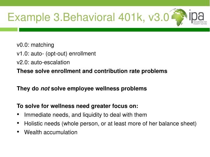 Example 3.Behavioral