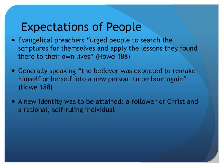 Expectations of People